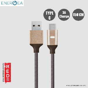 Picture of Energea LUMINA Aluminium LED Cable Type-C to USB A 150cm - Gold Red Design- Red Design Cases, Red Design Covers, iPad Cases and a wide selection of Red Design Accessories in Malaysia, Sabah, Sarawak and Singapore