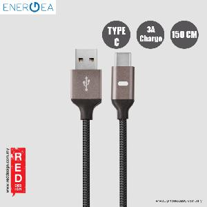 Picture of Energea LUMINA Aluminium LED Cable Type-C to USB A 150cm - Gunmental Red Design- Red Design Cases, Red Design Covers, iPad Cases and a wide selection of Red Design Accessories in Malaysia, Sabah, Sarawak and Singapore