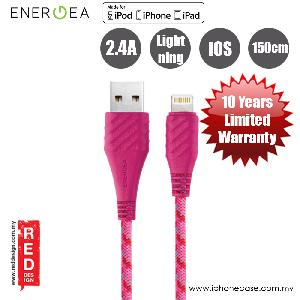 Picture of Energea NYLOEXTERME MFI with Dupon Kevlar Lightning Cable 2.4A Speed Charging 150cm - Pink Red Design- Red Design Cases, Red Design Covers, iPad Cases and a wide selection of Red Design Accessories in Malaysia, Sabah, Sarawak and Singapore