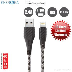 Picture of Energea NYLOEXTERME MFI with Dupon Kevlar Lightning Cable 2.4A Speed Charging 150cm - Winter Grey Red Design- Red Design Cases, Red Design Covers, iPad Cases and a wide selection of Red Design Accessories in Malaysia, Sabah, Sarawak and Singapore
