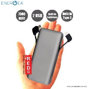 Picture of Energea Integra 7000i Power Bank with MFI Integrated Lightning and Tyce C Cable - Space Grey Red Design- Red Design Cases, Red Design Covers, iPad Cases and a wide selection of Red Design Accessories in Malaysia, Sabah, Sarawak and Singapore