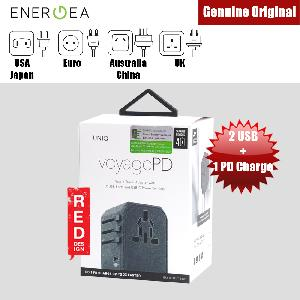 Picture of Uniq VoyagePD World Travel Adapter for over 150 countries with 2 USB USB C Power Delivery Red Design- Red Design Cases, Red Design Covers, iPad Cases and a wide selection of Red Design Accessories in Malaysia, Sabah, Sarawak and Singapore