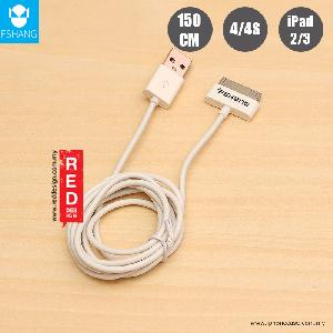 Picture of FSHANG 30 Pins Charging and Data Cable for iPhone 4S iPad 2 iPad 3 - 150CM White Apple iPhone 4S- Apple iPhone 4S Cases, Apple iPhone 4S Covers, iPad Cases and a wide selection of Apple iPhone 4S Accessories in Malaysia, Sabah, Sarawak and Singapore