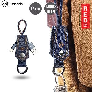 Picture of Mcdodo Premium Keychain Denim Fabric Lightning Cable - Blue Red Design- Red Design Cases, Red Design Covers, iPad Cases and a wide selection of Red Design Accessories in Malaysia, Sabah, Sarawak and Singapore