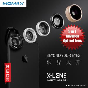 Picture of Momax X-Lens Universal Clip 5 in 1 Superior Lens Wide Angle Macro CPL Filter Fish Eye TELE Smartphone Lens Red Design- Red Design Cases, Red Design Covers, iPad Cases and a wide selection of Red Design Accessories in Malaysia, Sabah, Sarawak and Singapore