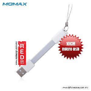 Picture of Momax Go Link Flat Design Tangle Free 10cm Micro USB 2.0 Cable - White Red Design- Red Design Cases, Red Design Covers, iPad Cases and a wide selection of Red Design Accessories in Malaysia, Sabah, Sarawak and Singapore