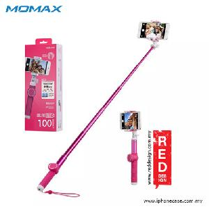 Picture of Momax Universal Pro Twist Lock Selfie Hero Monopod for Smartphone and GoPro with Wireless Bluetooth Shutter - 100cm Pink Red Design- Red Design Cases, Red Design Covers, iPad Cases and a wide selection of Red Design Accessories in Malaysia, Sabah, Sarawak and Singapore