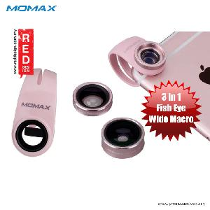 Picture of Momax X-Lens Universal Clip 3 in 1 Superior Lens Wide Angle Macro Fish Eye Smartphone Lens - Rose Gold Red Design- Red Design Cases, Red Design Covers, iPad Cases and a wide selection of Red Design Accessories in Malaysia, Sabah, Sarawak and Singapore