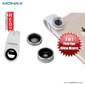 Picture of Momax X-Lens Universal Clip 3 in 1 Superior Lens Wide Angle Macro Fish Eye Smartphone Lens - Silver Red Design- Red Design Cases, Red Design Covers, iPad Cases and a wide selection of Red Design Accessories in Malaysia, Sabah, Sarawak and Singapore