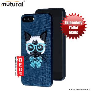 Picture of Mutural Design Embroidery Fashion Artwork Back Case for Apple iPhone 7 Plus iPhone 8 Plus 5.5 - Cat Blue Apple iPhone 8 Plus- Apple iPhone 8 Plus Cases, Apple iPhone 8 Plus Covers, iPad Cases and a wide selection of Apple iPhone 8 Plus Accessories in Malaysia, Sabah, Sarawak and Singapore