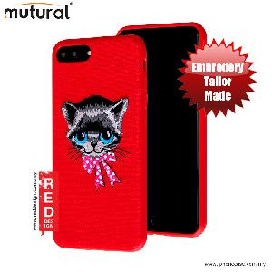 Picture of Mutural Design Embroidery Fashion Artwork Back Case for Apple iPhone 7 Plus 5.5 - Cat Red Apple iPhone 7 Plus 5.5- Apple iPhone 7 Plus 5.5 Cases, Apple iPhone 7 Plus 5.5 Covers, iPad Cases and a wide selection of Apple iPhone 7 Plus 5.5 Accessories in Malaysia, Sabah, Sarawak and Singapore