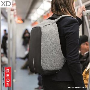 Picture of XD Design Bobby Anti Theft Backpack - Grey Red Design- Red Design Cases, Red Design Covers, iPad Cases and a wide selection of Red Design Accessories in Malaysia, Sabah, Sarawak and Singapore