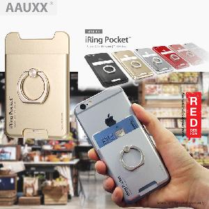 Picture of AAUXX iRing Pocket Card Holder With Universal Phone Grip and Stand - Black
