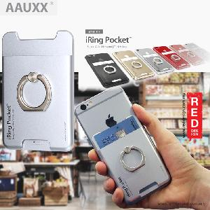 Picture of AAUXX iRing Pocket Card Holder With Universal Phone Grip and Stand - Rose Gold