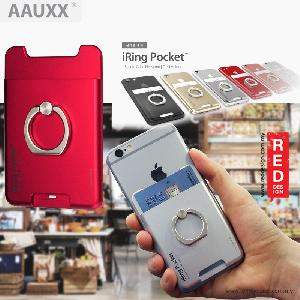 Picture of AAUXX iRing Pocket Card Holder With Universal Phone Grip and Stand - Red Red Design- Red Design Cases, Red Design Covers, iPad Cases and a wide selection of Red Design Accessories in Malaysia, Sabah, Sarawak and Singapore