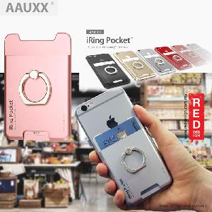 Picture of AAUXX iRing Pocket Card Holder With Universal Phone Grip and Stand - Glacier Silver