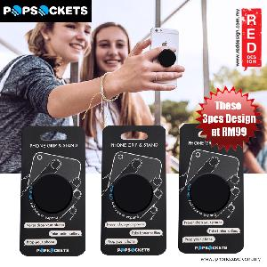 Picture of Popsockets A Phone Grip A Phone Stand An Earbud Management System - Black 3pcs Red Design- Red Design Cases, Red Design Covers, iPad Cases and a wide selection of Red Design Accessories in Malaysia, Sabah, Sarawak and Singapore