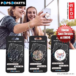Picture of Popsockets A Phone Grip A Phone Stand An Earbud Management System - Black Marble Camo Feathers  3pcs Red Design- Red Design Cases, Red Design Covers, iPad Cases and a wide selection of Red Design Accessories in Malaysia, Sabah, Sarawak and Singapore