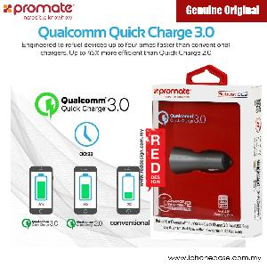 Picture of Promate Robust Car Charger with Qualcomm Quick Charge 3.0 Dual USB (Grey) Red Design- Red Design Cases, Red Design Covers, iPad Cases and a wide selection of Red Design Accessories in Malaysia, Sabah, Sarawak and Singapore