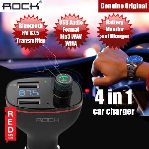 Picture of Rock B300 Bluetooth FM Transmitter Car Charger with Car Battery Monitor (Black) Red Design- Red Design Cases, Red Design Covers, iPad Cases and a wide selection of Red Design Accessories in Malaysia, Sabah, Sarawak and Singapore