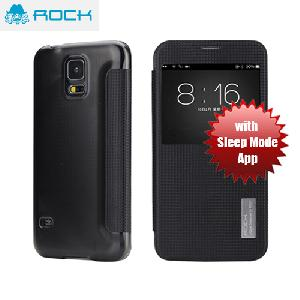 Picture of Rock Elegant Series Window View Sleep Mode APP Case for Galaxy S5 - Black Samsung Galaxy S5- Samsung Galaxy S5 Cases, Samsung Galaxy S5 Covers, iPad Cases and a wide selection of Samsung Galaxy S5 Accessories in Malaysia, Sabah, Sarawak and Singapore
