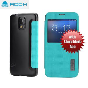 Picture of Rock Elegant Series Window View Sleep Mode APP Case for Galaxy S5 - Green Blue Samsung Galaxy S5- Samsung Galaxy S5 Cases, Samsung Galaxy S5 Covers, iPad Cases and a wide selection of Samsung Galaxy S5 Accessories in Malaysia, Sabah, Sarawak and Singapore