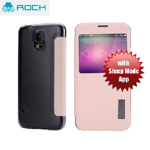 Picture of Rock Elegant Series Window View Sleep Mode APP Case for Galaxy S5 - Light Pink Samsung Galaxy S5- Samsung Galaxy S5 Cases, Samsung Galaxy S5 Covers, iPad Cases and a wide selection of Samsung Galaxy S5 Accessories in Malaysia, Sabah, Sarawak and Singapore