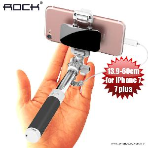Picture of Rock Mini Pod Mini Monopod Pocket Size Monopod Selfie Stick with Wire Control and Big Mirror 13.9cm-60cm for iPhone 7 - Black Red Design- Red Design Cases, Red Design Covers, iPad Cases and a wide selection of Red Design Accessories in Malaysia, Sabah, Sarawak and Singapore