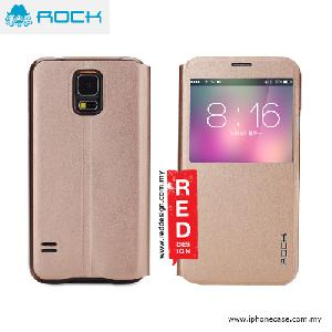 Picture of Rock Uni Series Window View Sleep Mode APP Case for Galaxy S5 - Gold Samsung Galaxy S5- Samsung Galaxy S5 Cases, Samsung Galaxy S5 Covers, iPad Cases and a wide selection of Samsung Galaxy S5 Accessories in Malaysia, Sabah, Sarawak and Singapore