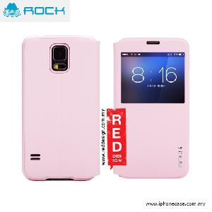 Picture of Rock Uni Series Window View Sleep Mode APP Case for Galaxy S5 - Pink Samsung Galaxy S5- Samsung Galaxy S5 Cases, Samsung Galaxy S5 Covers, iPad Cases and a wide selection of Samsung Galaxy S5 Accessories in Malaysia, Sabah, Sarawak and Singapore