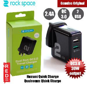 Picture of Rock Space T13 Dual Port QC 3.0 Travel Charger (UK Black) Red Design- Red Design Cases, Red Design Covers, iPad Cases and a wide selection of Red Design Accessories in Malaysia, Sabah, Sarawak and Singapore