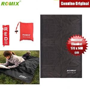 Picture of ROMIX RH33 170 x 140cm Light and Portable Nylon Foldable Water Resistant Pocket Blanket (Black) Red Design- Red Design Cases, Red Design Covers, iPad Cases and a wide selection of Red Design Accessories in Malaysia, Sabah, Sarawak and Singapore