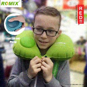 Picture of Romix Travel U Shape Inflatable and Foldable Travel Neck Pillow - Green Red Design- Red Design Cases, Red Design Covers, iPad Cases and a wide selection of Red Design Accessories in Malaysia, Sabah, Sarawak and Singapore
