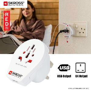 Picture of Skross Country Adapter World to UK USB Red Design- Red Design Cases, Red Design Covers, iPad Cases and a wide selection of Red Design Accessories in Malaysia, Sabah, Sarawak and Singapore