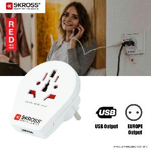 Picture of Skross Country Adapter World to Europe USB Red Design- Red Design Cases, Red Design Covers, iPad Cases and a wide selection of Red Design Accessories in Malaysia, Sabah, Sarawak and Singapore