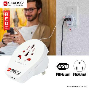 Picture of Skross Country Adapter World to USA USB Red Design- Red Design Cases, Red Design Covers, iPad Cases and a wide selection of Red Design Accessories in Malaysia, Sabah, Sarawak and Singapore