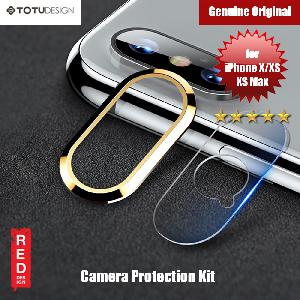 Picture of Apple iPhone X  | Totu Series Camera Lens Cover for iPhone XS iPhone XS Max (Gold)