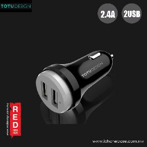 Picture of Totu Bullet Series 2.4A Fast Charge Dual USB Car Charger (Black Grey) Red Design- Red Design Cases, Red Design Covers, iPad Cases and a wide selection of Red Design Accessories in Malaysia, Sabah, Sarawak and Singapore