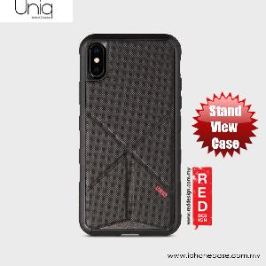 Picture of Uniq Transforma Rigor Standable Back Case for Apple iPhone X (Black) Apple iPhone X- Apple iPhone X Cases, Apple iPhone X Covers, iPad Cases and a wide selection of Apple iPhone X Accessories in Malaysia, Sabah, Sarawak and Singapore