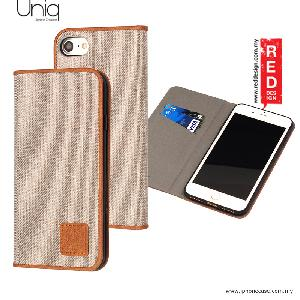 Picture of Uniq Trilby Canvas Fabric Flip Cover Stand Case for Apple iPhone 7 iPhone 8 4.7 - Camel Apple iPhone 8- Apple iPhone 8 Cases, Apple iPhone 8 Covers, iPad Cases and a wide selection of Apple iPhone 8 Accessories in Malaysia, Sabah, Sarawak and Singapore