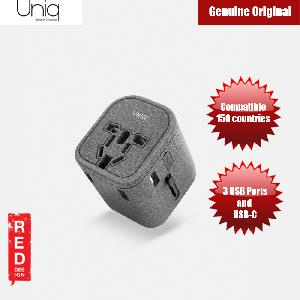 Picture of Uniq Voyage World Travel Adapter for over 150 countries with 3 USB USB C Ports Red Design- Red Design Cases, Red Design Covers, iPad Cases and a wide selection of Red Design Accessories in Malaysia, Sabah, Sarawak and Singapore