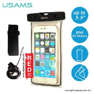 Picture of USAMS Mobile Smartphone IPX8 Waterproof Bag for Smartphone up to 5.5 inches Note 6 S7 Edge iPhone 6 Plus - Black Red Design- Red Design Cases, Red Design Covers, iPad Cases and a wide selection of Red Design Accessories in Malaysia, Sabah, Sarawak and Singapore