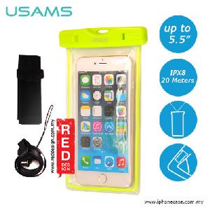 Picture of USAMS Mobile Smartphone IPX8 Waterproof Bag for Smartphone up to 5.5 inches Note 6 S7 Edge iPhone 6 Plus - Green Red Design- Red Design Cases, Red Design Covers, iPad Cases and a wide selection of Red Design Accessories in Malaysia, Sabah, Sarawak and Singapore