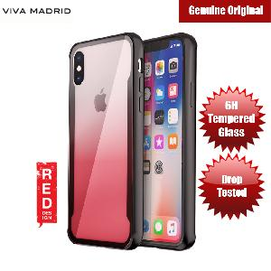 Picture of Viva Madrid Prisma Tempered Glass Protection Case for Apple iPhone X (Red) Apple iPhone X- Apple iPhone X Cases, Apple iPhone X Covers, iPad Cases and a wide selection of Apple iPhone X Accessories in Malaysia, Sabah, Sarawak and Singapore