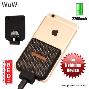 Picture of WUW Power Pack iPhone SE iPhone 6S iPhone 6S Plus iPhone 7 iPhone 7 Plus External Power Bank Back Clip 2200 mah - Black Red Design- Red Design Cases, Red Design Covers, iPad Cases and a wide selection of Red Design Accessories in Malaysia, Sabah, Sarawak and Singapore