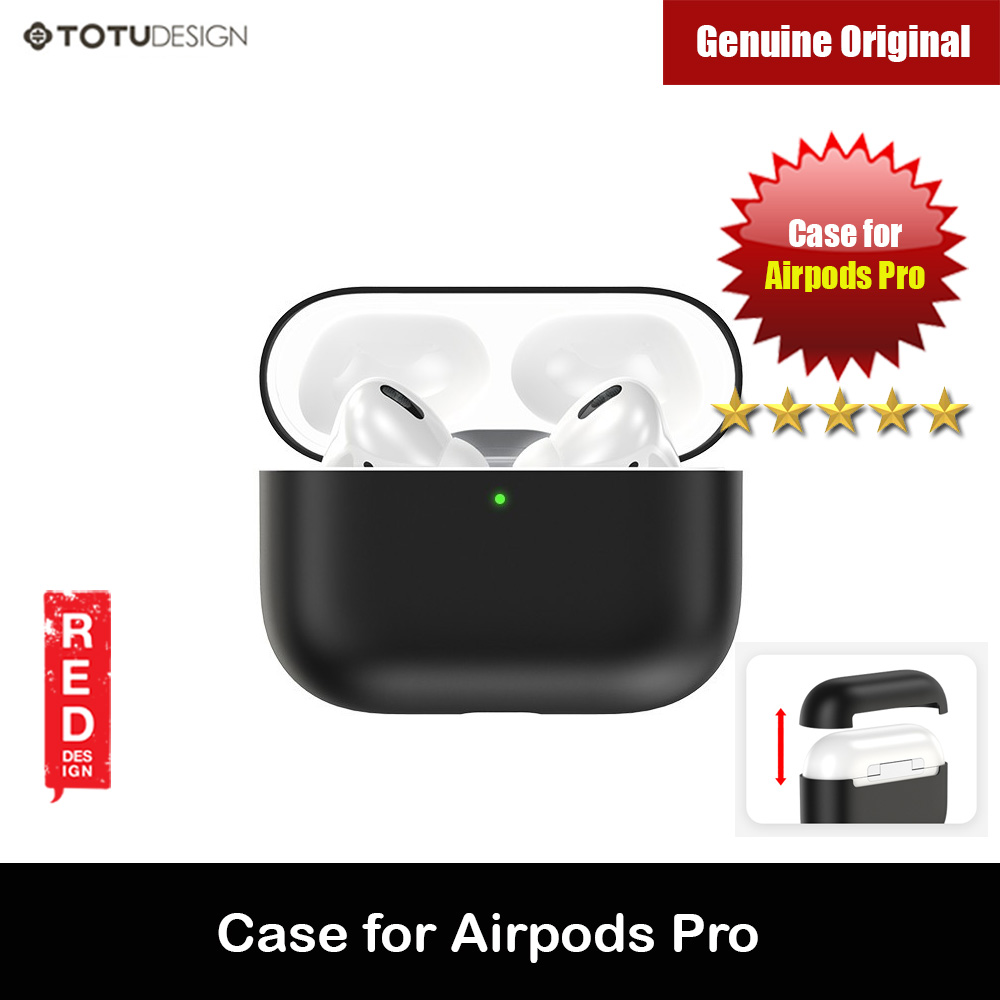 Picture of Totu Thin Drop Protection Liquid Silicone Soft Case for Airpods Pro (Black) Apple Airpods Pro- Apple Airpods Pro Cases, Apple Airpods Pro Covers, iPad Cases and a wide selection of Apple Airpods Pro Accessories in Malaysia, Sabah, Sarawak and Singapore