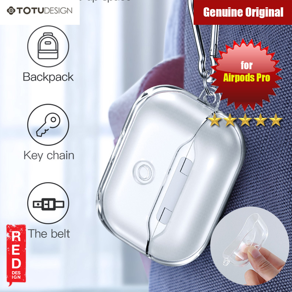 Picture of Totu Thin Drop Protection TPU Soft Transparent Case for Airpods Pro with removable Hook (Clear) Apple Airpods Pro- Apple Airpods Pro Cases, Apple Airpods Pro Covers, iPad Cases and a wide selection of Apple Airpods Pro Accessories in Malaysia, Sabah, Sarawak and Singapore