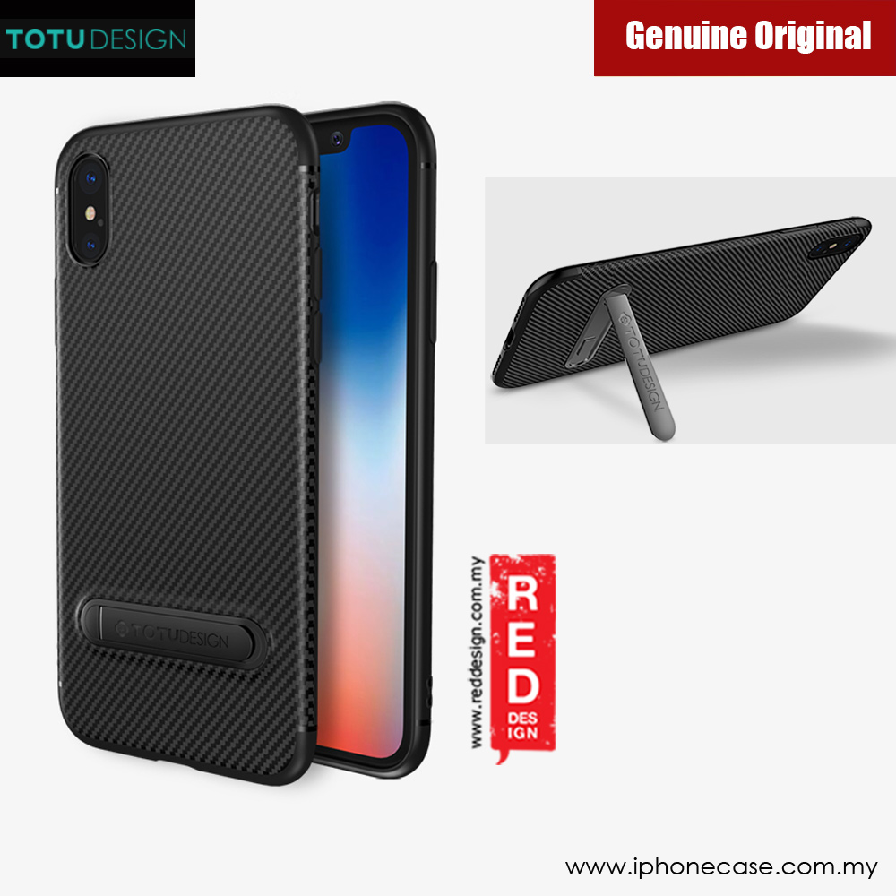 Picture of Totu Fiber Kickstand Series Case for Apple iPhone X (Black) Apple iPhone X- Apple iPhone X Cases, Apple iPhone X Covers, iPad Cases and a wide selection of Apple iPhone X Accessories in Malaysia, Sabah, Sarawak and Singapore