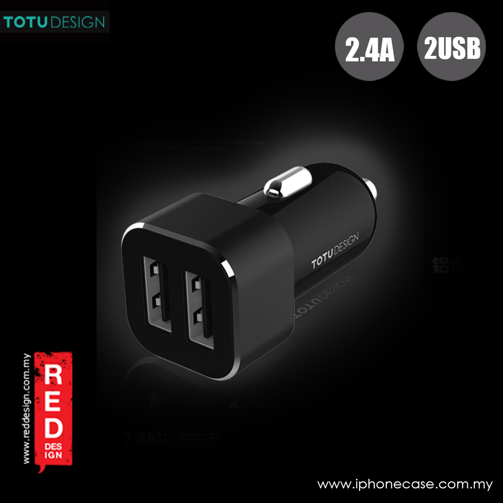 Picture of Totu Sharp Series 2.4A Fast Charge Dual USB Car Charger (Black)