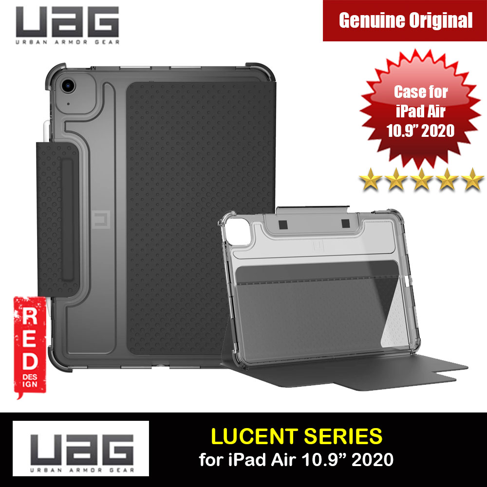 Picture of UAG LUCENT SERIES Featherlight Ultra Slim Profile Flip Stand Case Drop Proof Case with Stylus Storage for Apple iPad Air 4th Gen 10.9 2020 (Black Ice) Apple iPad Air 10.9 2020- Apple iPad Air 10.9 2020 Cases, Apple iPad Air 10.9 2020 Covers, iPad Cases and a wide selection of Apple iPad Air 10.9 2020 Accessories in Malaysia, Sabah, Sarawak and Singapore
